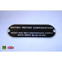 7 - BMC Seat Belt Anchorage Plate