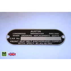 8 - Austin Chassis Plate