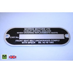 9 - Morris Chassis Plate