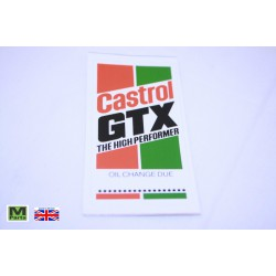 "19 - Castrol ""Oil Change Due"" Decal"
