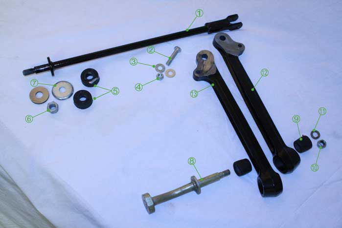 Moke Lower Arm and Tie Rod