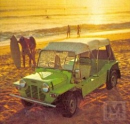 Green Moke With Surfers